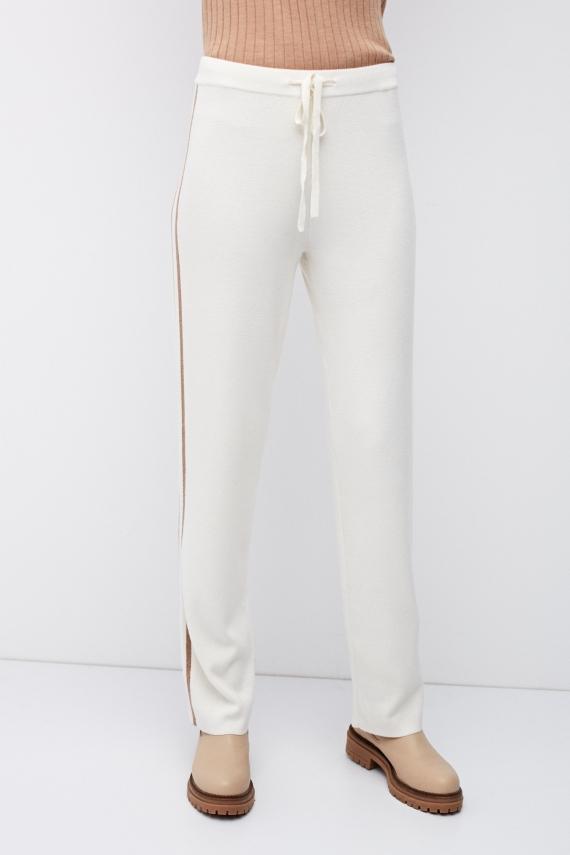 Spodnie dzianinowe z wełny merynosowej extra fine